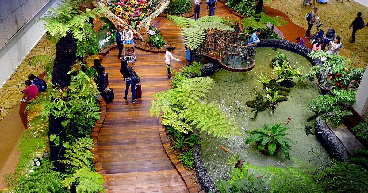 Jardim interior